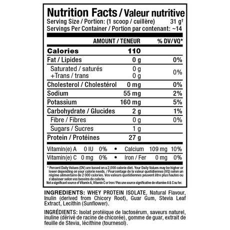 Allmax Isonatural Whey Protein Isolate Vanilla Supplement Powder