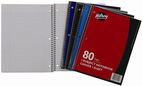 Hilroy 1 Subject Coil Notebooks, Assorted Colours - image 2 of 2