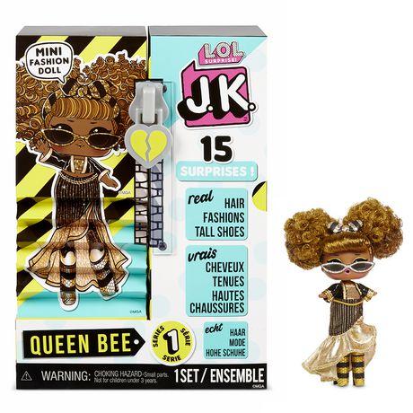 Mini poupée-mannequin L.O.L. Surprise! JK Queen Bee avec 15 surprises