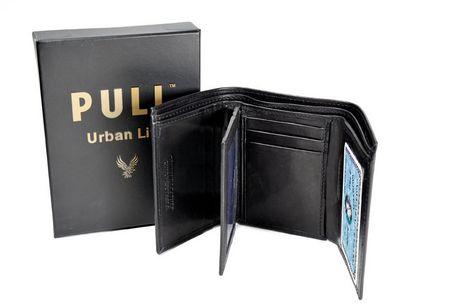 Champs Express Portefeuille à deux plis en cuir de la collection Champs XLX avec pochettes dépliable pour carte d'identité - image 1 de 1