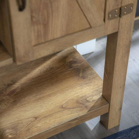 meuble tv console table porte de grange en bois de 132 cm 52 po - Meuble Tv Bois De Grange
