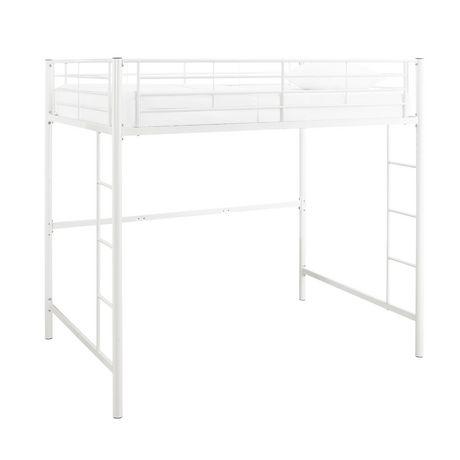 Manor Park Modern Metal Full Size Loft Bed Multiple