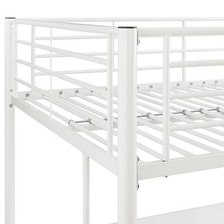 grand lit mezzanine walker edison premium en m tal blanc walmart canada. Black Bedroom Furniture Sets. Home Design Ideas
