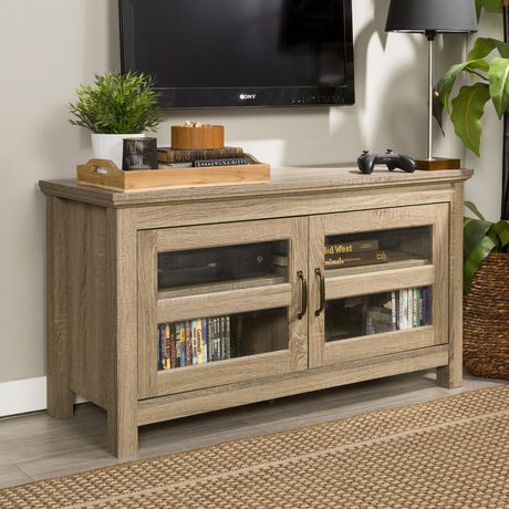 console rangement pour m dias et tv en bois flott de walker edison de 111 cm 44 po walmart. Black Bedroom Furniture Sets. Home Design Ideas