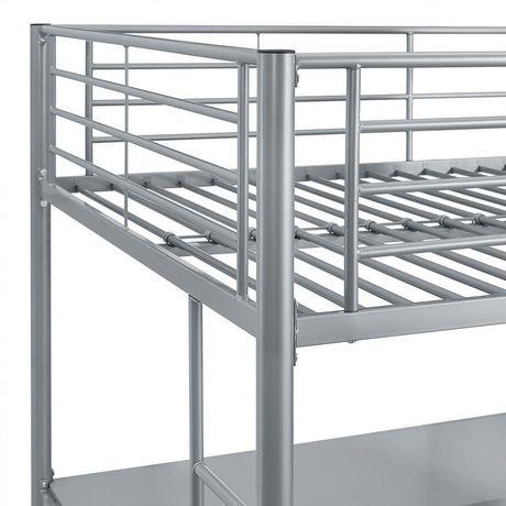 grand lit mezzanine walker edison premium en m tal noir walmart canada. Black Bedroom Furniture Sets. Home Design Ideas