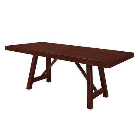 Table de salle manger tr teaux en bois massif expresso for Table pliante walmart