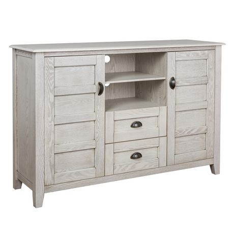 Angelo Home White Wash 52 Quot Rustic Chic Tv Console
