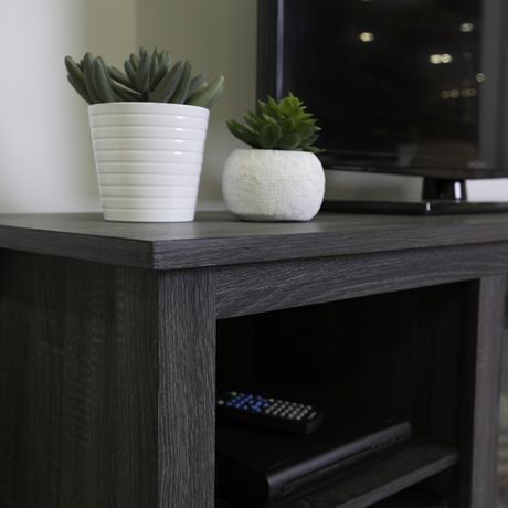 58 Quot Charcoal Wood Tv Stand Console With Fireplace