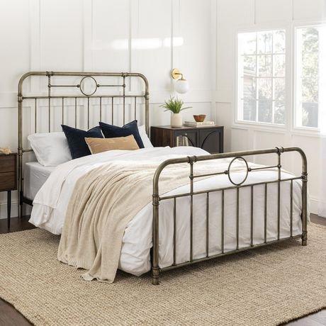 lit double en tuyaux de m tal de bronze queen size walmart canada. Black Bedroom Furniture Sets. Home Design Ideas