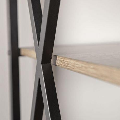 armoire de livres et m dias en bois flott et m tal haut cadre en x de 155 cm 61 po. Black Bedroom Furniture Sets. Home Design Ideas