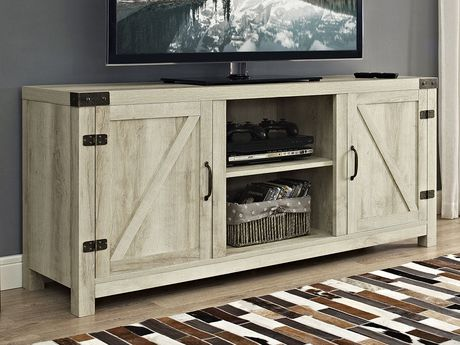 "Manor Park Farmhouse Barn Door TV Stand for TV's up to 64"" - Multiple Finishes - image 2 of 4"