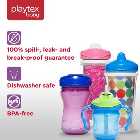 Playtex Baby Sipsters Spill-Proof Straw Training Cup with Removable Handles, Stage 1 (4+ Months), Pack of 1 Cup - image 7 of 8