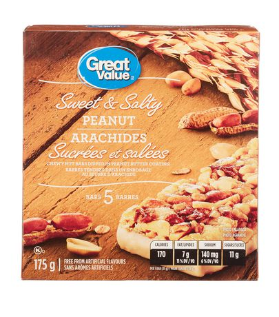 Great Value Sweet & Salty Peanut Chewy Nut Granola Bars - image 1 of 3