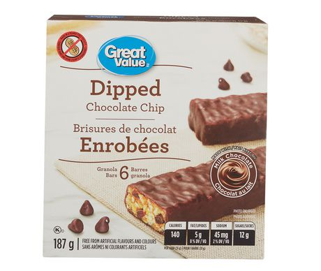 Great Value Dipped Chocolate Chip Granola Bars - image 1 of 2
