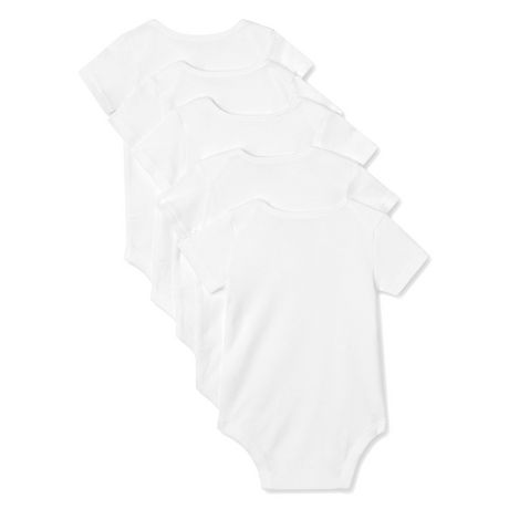 George baby Unisex Cotton Bodysuits, 5-Pack - image 2 of 2