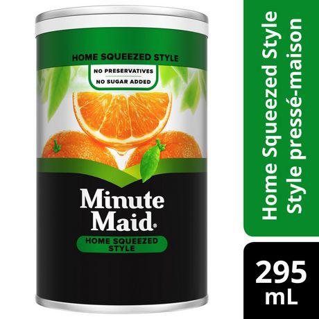 Jus D Orange 100 Style Presse Maison De Minute Maid Walmart Canada