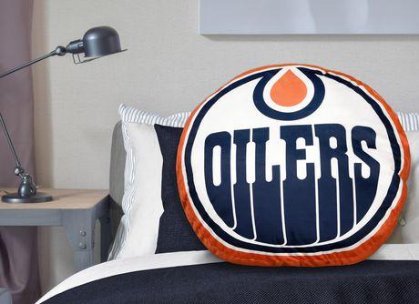 Coussin de Logo d'Équipe LNH- Edmonton Oilers - image 2 de 3