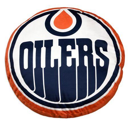 Coussin de Logo d'Équipe LNH- Edmonton Oilers - image 1 de 3
