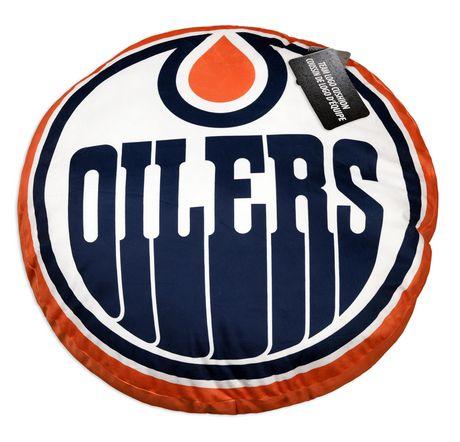 Coussin de Logo d'Équipe LNH- Edmonton Oilers - image 3 de 3