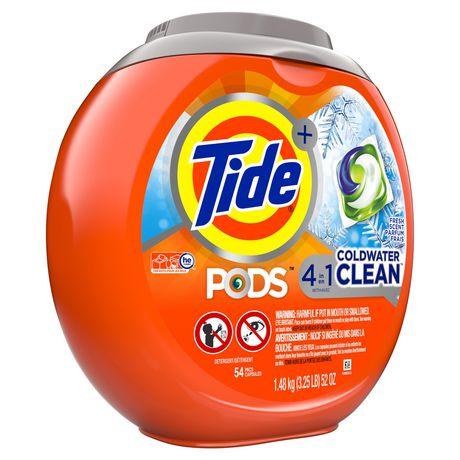 Capsules de détergent à lessive liquide Tide PODS Propreté en eau froide, parfum frais - image 8 de 8