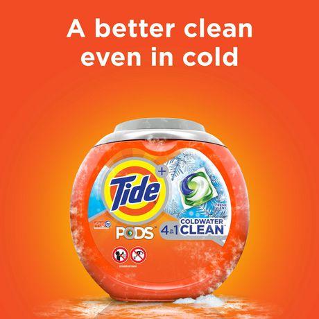 Capsules de détergent à lessive liquide Tide PODS Propreté en eau froide, parfum frais - image 7 de 8
