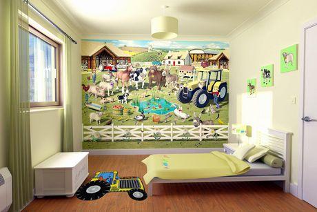 Fun Rugs Multi-Colored Tractor Nylon Kids Rug - image 2 of 2