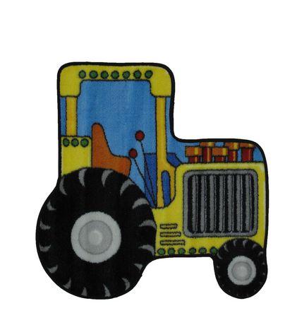 Fun Rugs Multi-Colored Tractor Nylon Kids Rug - image 1 of 2