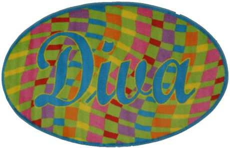 Fun Rugs Multi-Colored Diva Kids Rug - image 1 of 2