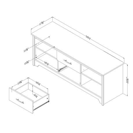 """South Shore Fusion TV Stand with Drawers for Tvs up to 60"""" - image 4 of 8"""