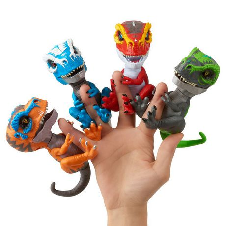 Untamed T-Rex by Fingerlings – Ripsaw (red) - Interactive Collectible Dinosaur - by WowWee - image 4 of 4