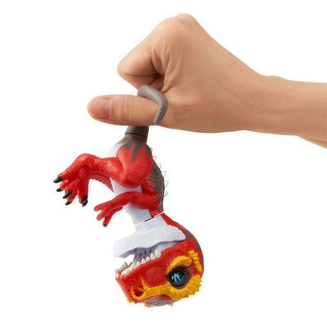 Untamed T-Rex by Fingerlings – Ripsaw (red) - Interactive Collectible Dinosaur - by WowWee - image 3 of 4