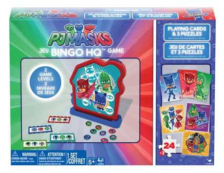 PJ Masks Bingo HQ Game Bundle with Playing Cards and Three Puzzles - image 1 of 1