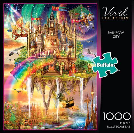 Buffalo Games Vivid Collection Le puzzle Rainbow City en 1000 pièces - image 1 de 3