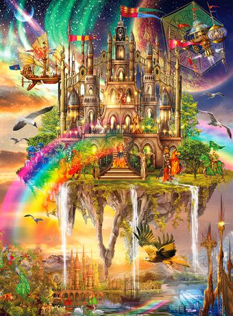 Buffalo Games Vivid Collection Le puzzle Rainbow City en 1000 pièces - image 2 de 3