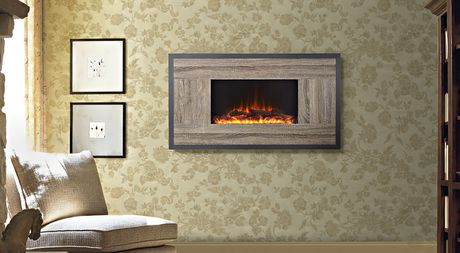 Flamelux Oland 41 Inches Wide Wall Mount Electric Firebox
