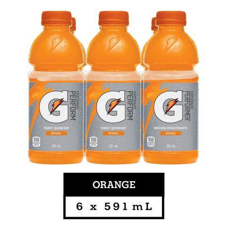 Gatorade Orange Sports Drink, 591mL Bottles, 6 Pack - image 2 of 6