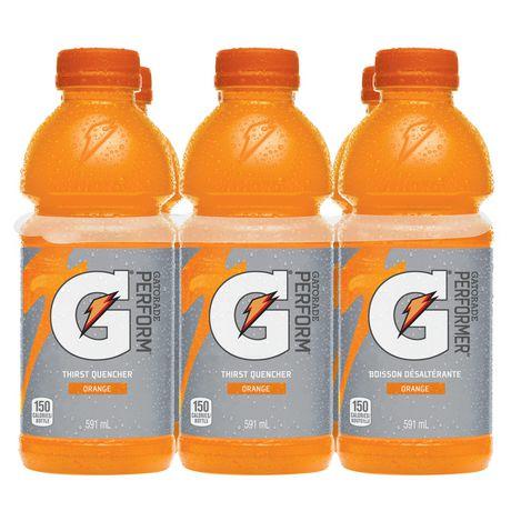 Gatorade Orange Sports Drink, 591mL Bottles, 6 Pack - image 3 of 6