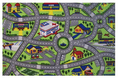Tapis rectangle amusant pour enfant plaisir au volant multicolore nylon - image 1 de 2