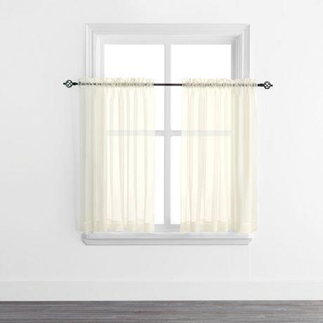 Mainstays Sheer Voile Rod Pocket Curtain Panels