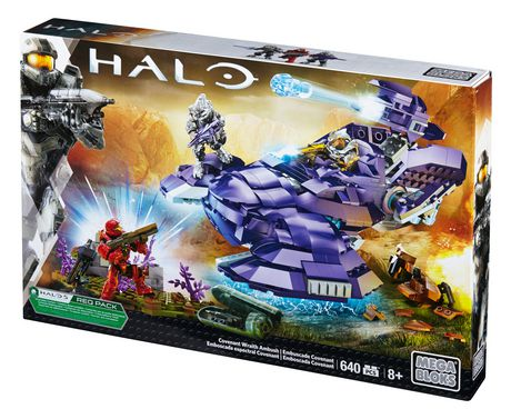MEGA BLOKS Halo Covenant Wraith Ambush Building Set