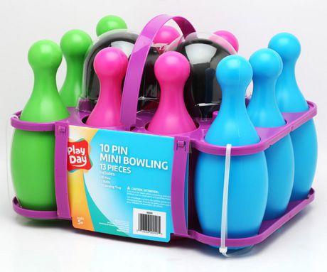 Play Day Mini 10 Pin Bowling Set (Blue/Pink) | Walmart Canada