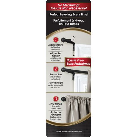 "Maytex 48"" - 120"" Café Window Curtain Rod 