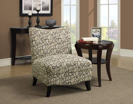 Monarch Specialties Swirl Fabric Accent Chair Walmart Canada