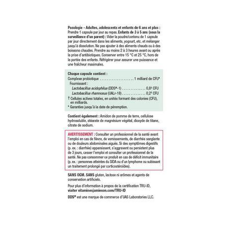Jamieson Complexe Probiotique Acidophilus - 1 Milliard - image 4 de 4