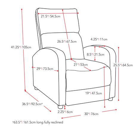 CorLiving Moor Linen Fabric Recliner - image 5 of 5