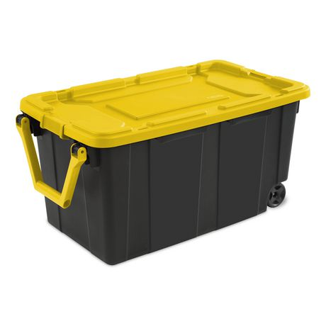 Sterilite 151l Wheeled Industrial Tote Yellow Walmart Canada