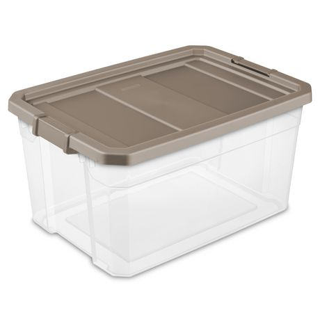 Sterilite 72L Modular Stackers- Taupe - image 1 of 2