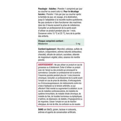 Jamieson Melatonin Fast Dissolving Chocolate Mint Tablets, 5 mg - image 6 of 7