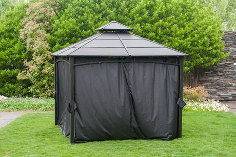 hometrends Privacy Curtain for 10 ft x 10 ft Gazebo - image 2 of 2