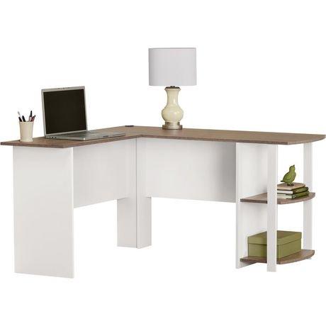 bureau en l logan avec tag res de dorel walmart canada. Black Bedroom Furniture Sets. Home Design Ideas